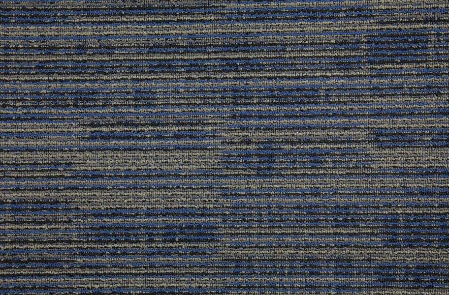 Mohawk Get Moving Carpet Tile - Indigo Batik