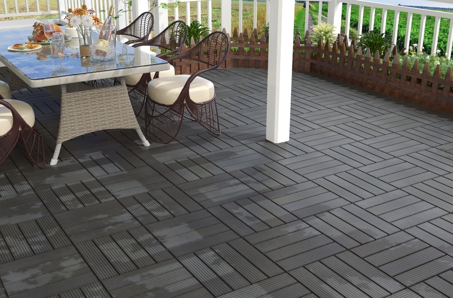 Naturesort Deck Tiles - Terrace (4 Slat) - Espresso