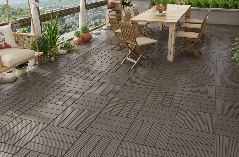 Naturesort Deck Tiles - Terrace (4 Slat) - Mocha
