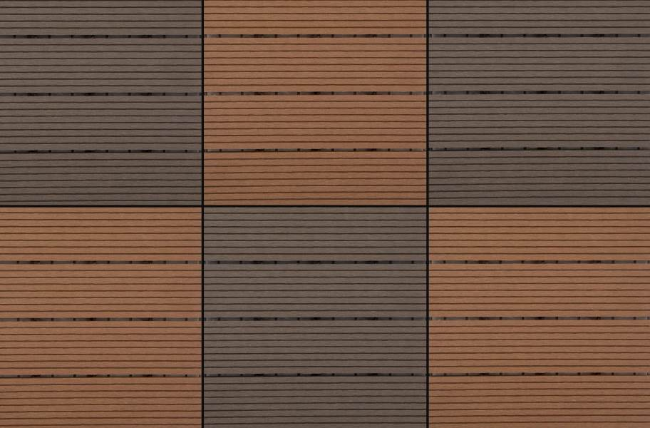 Naturesort Deck Tiles - Terrace (4 Slat) - Clay & Mocha