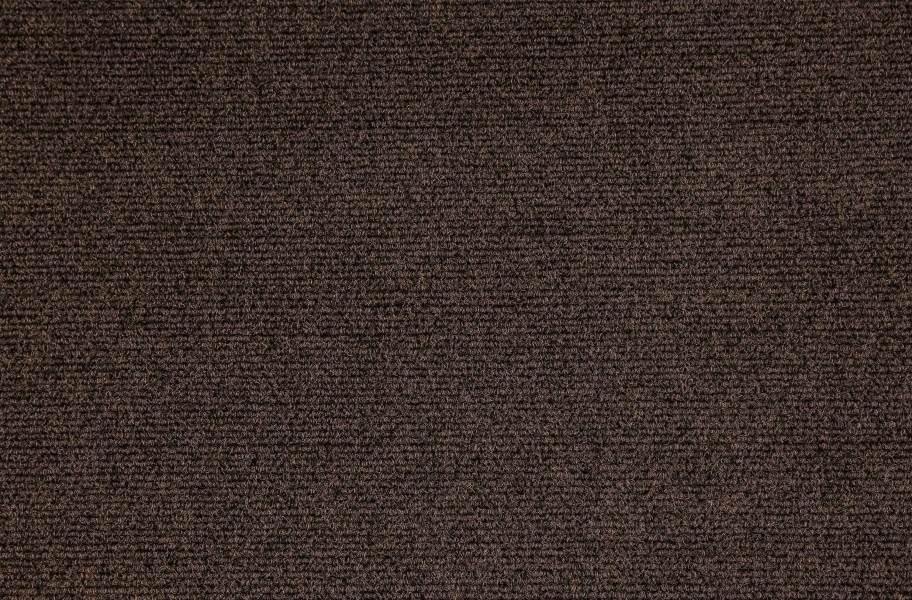 Premium Ribbed Carpet Tiles - Smoke