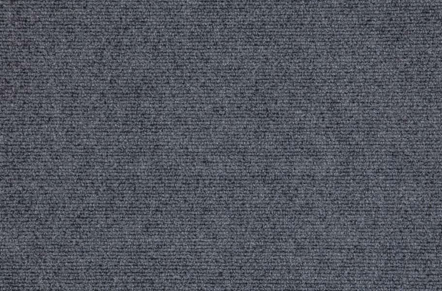 Premium Ribbed Carpet Tiles - Sky Grey