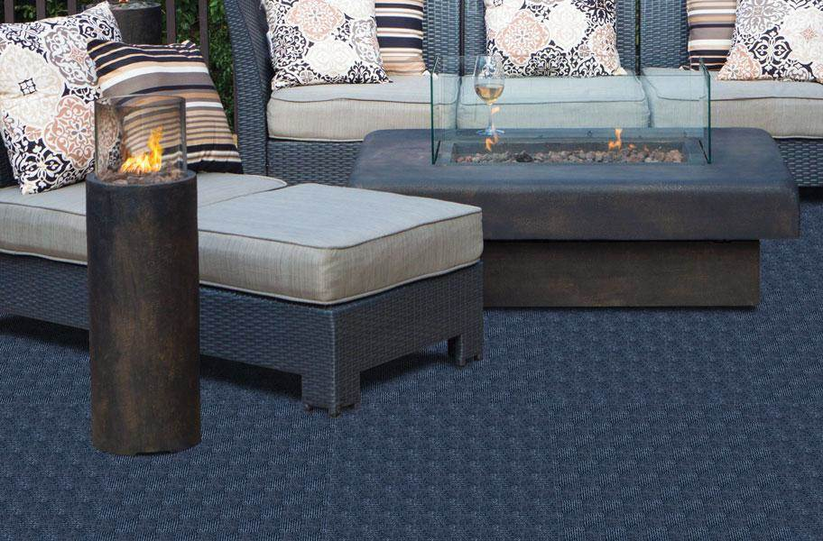 Weave Carpet Tiles - Denim