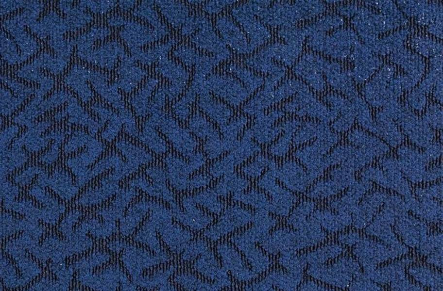 Designer Berber Rubber Carpet Tiles - Ocean Blue
