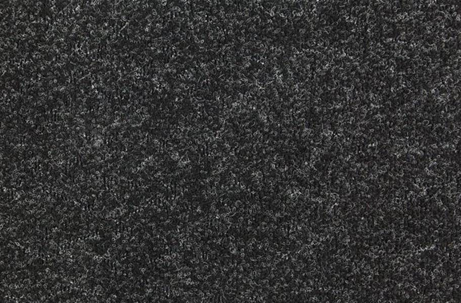 Designer Berber Rubber Carpet Tiles - Midnight Black