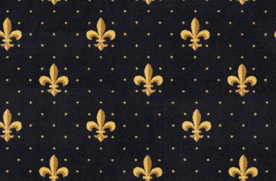 Joy Carpets Fleur-de-Lis Carpet - Black
