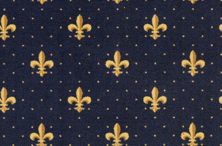 Joy Carpets Fleur-de-Lis Carpet - Navy