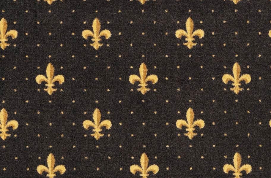Joy Carpets Fleur-de-Lis Carpet - Brown