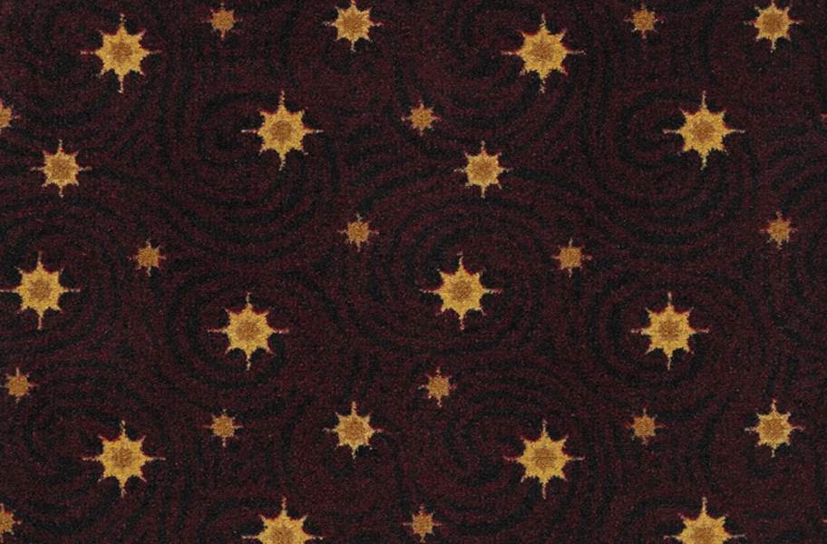 Joy Carpets Milky Way Carpet - Burgundy