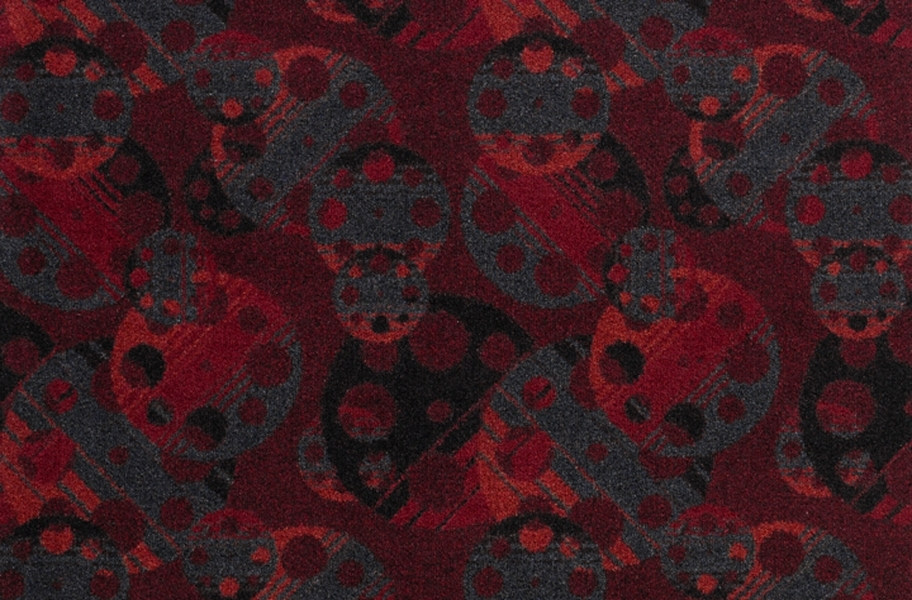 Joy Carpets Reeling Carpet - Burgundy