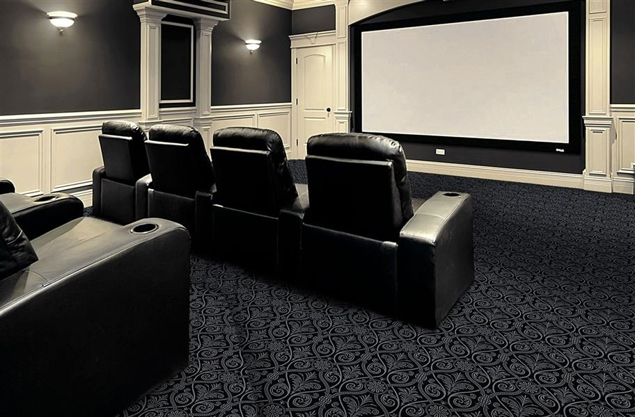 Joy Carpets Damascus Carpet - Black