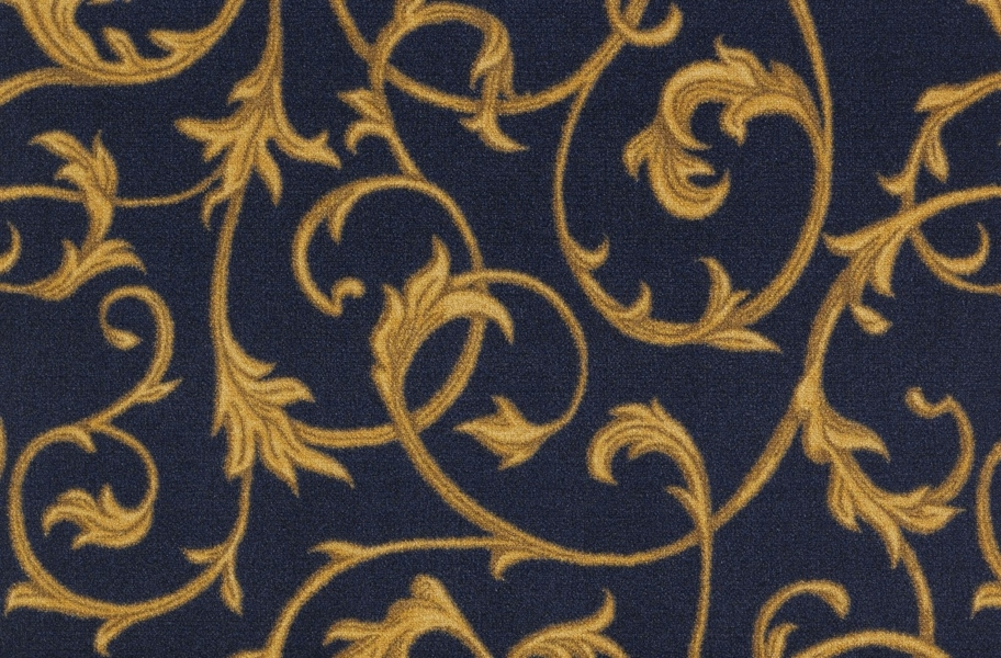 Joy Carpets Acanthus Carpet - Navy