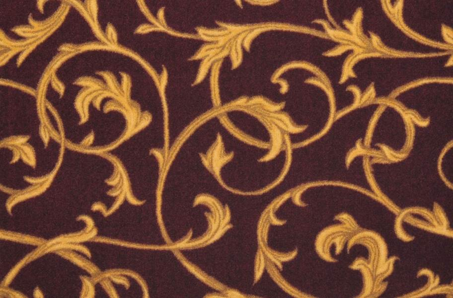 Joy Carpets Acanthus Carpet - Burgundy