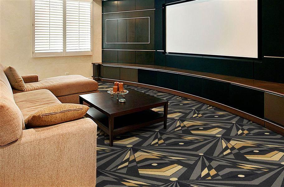 Joy Carpets Deco Strobe Carpet - Charcoal