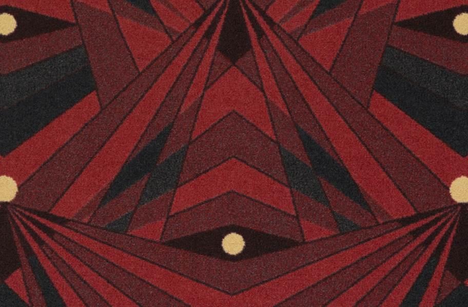 Joy Carpets Deco Strobe Carpet - Burgundy