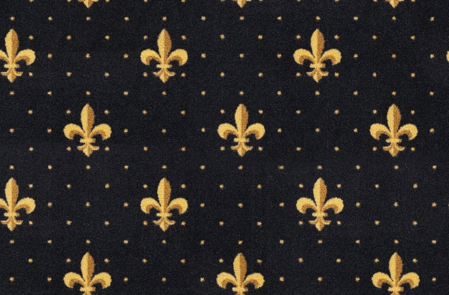 Joy Carpets Fleur-de-Lis Carpet - Black