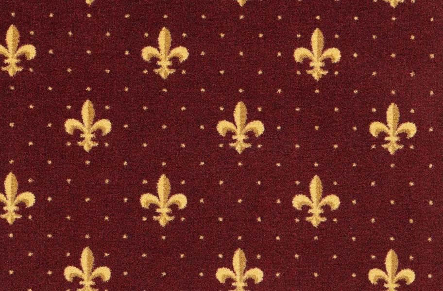 Joy Carpets Fleur-de-Lis Carpet - Burgundy