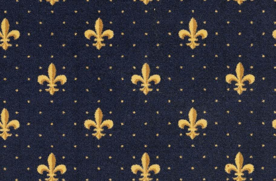 Joy Carpets Fleur-de-Lis Carpet - Navy