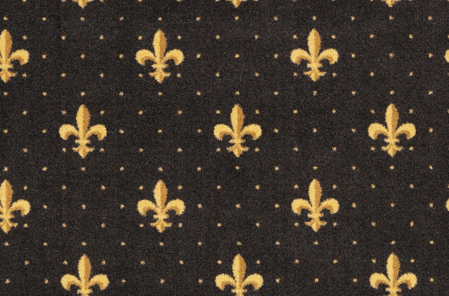 Joy Carpets Fleur-de-Lis Carpet - Brown