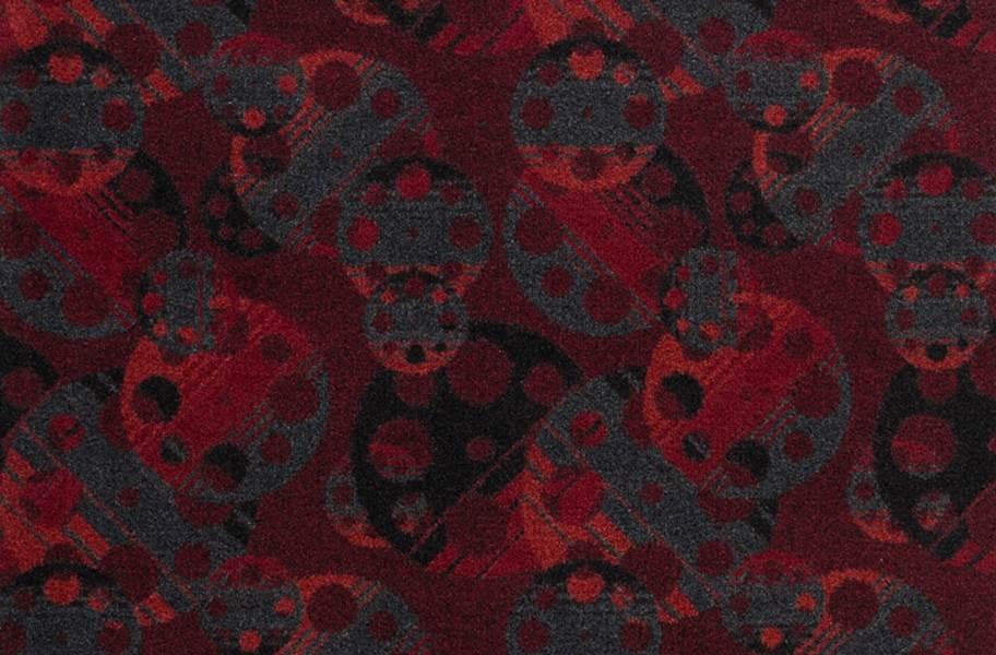 Joy Carpets Reeling Carpet - Burgundy