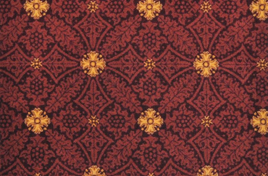 Joy Carpets Fort Wood Carpet - Burgundy