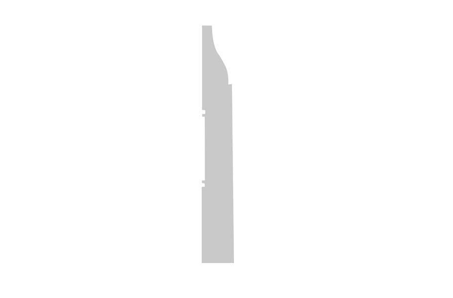 "White Painted 2-3/4""x3/8""x96"" Princeton Baseboard"