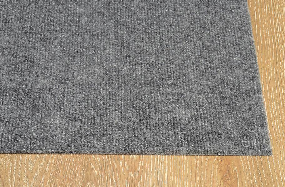 Ribbed Smoke Grey Indoor Outdoor Area Rug