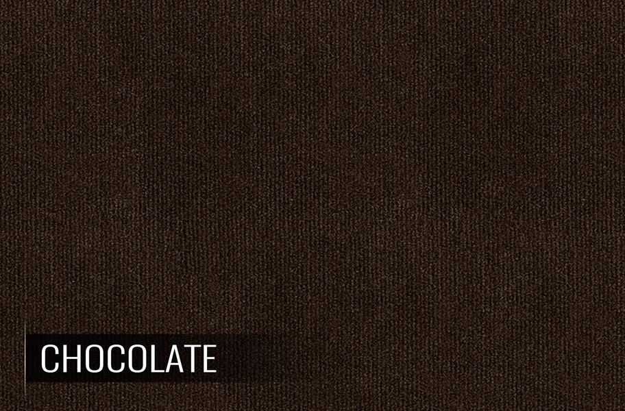 Ribbed Chocolate Indoor Outdoor Area Rug