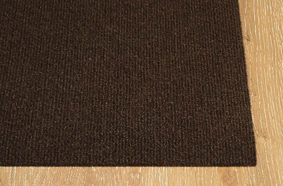 Ribbed Chocolate Indoor/Outdoor Area Rug