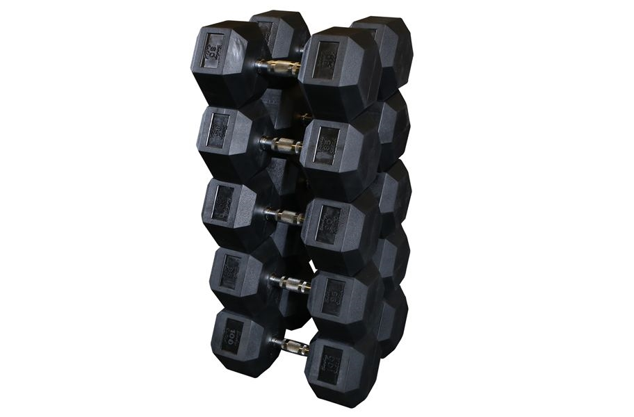 Body-Solid Rubber Coated Hex Dumbbell Sets