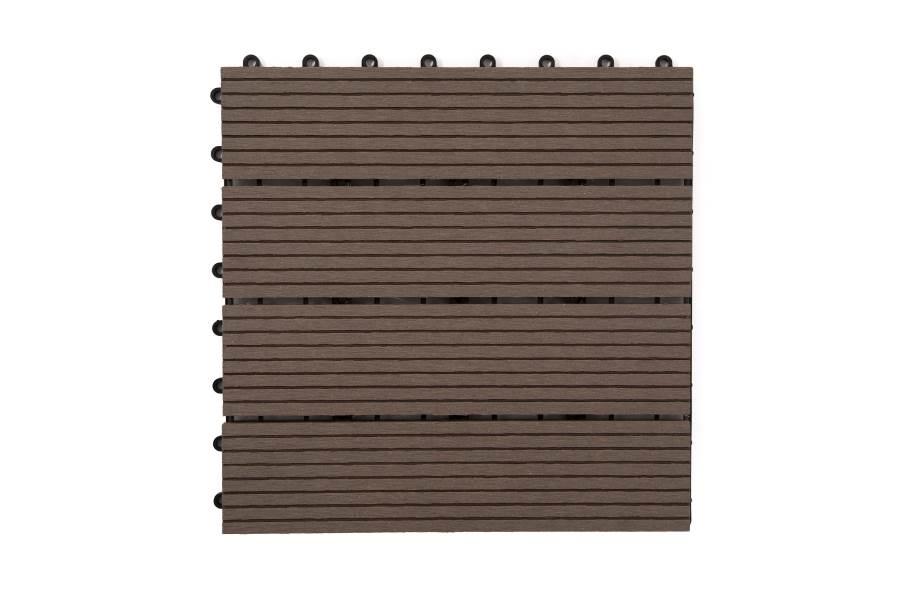 Naturesort Deck Tiles - Terrace (4 Slat) - Mocha