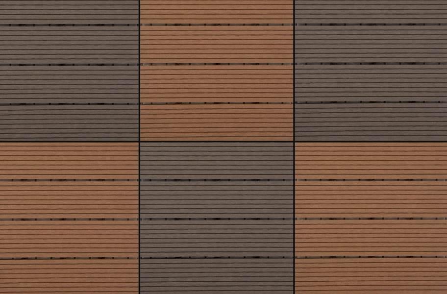 Naturesort Deck Tiles - Terrace (4 Slat) - Clay & Mocha