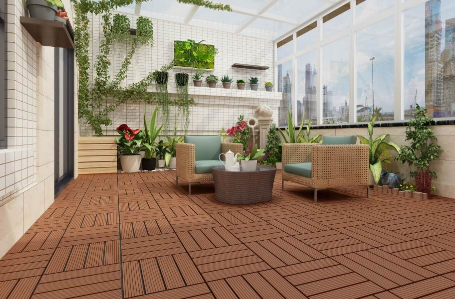 Naturesort Deck Tiles - Terrace (4 Slat) - Clay