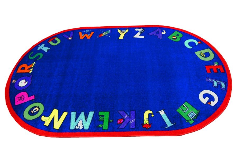 Alpha With Attitude Kids Rug