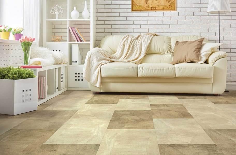 COREtec Plus Design Tiles - Sand Slate