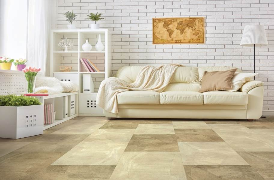 COREtec Plus Design Tiles - Sand Slate