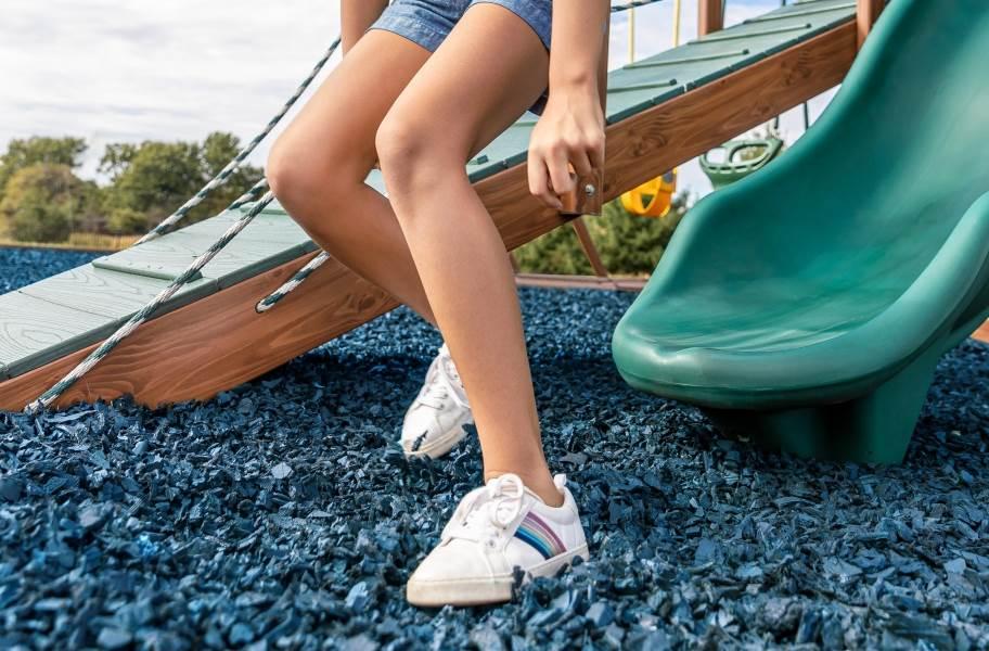Playground Rubber Mulch - Bulk - Caribbean Blue