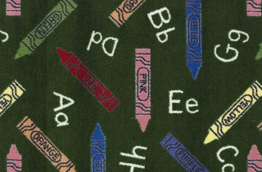 Joy Carpets Crayons Carpet - Green