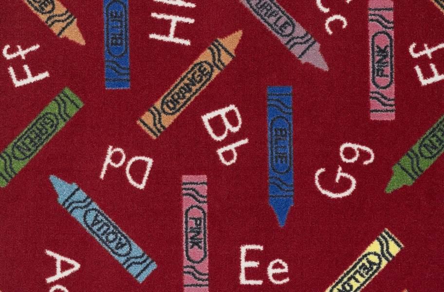 Joy Carpets Crayons Carpet - Red
