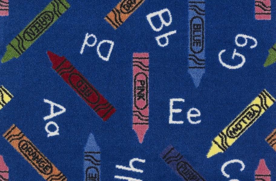 Joy Carpets Crayons Carpet - Blue
