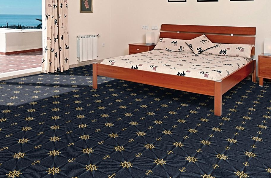 Joy Carpets Mariner's Tale Carpet - Navy
