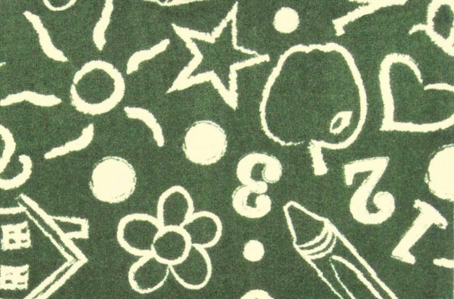 Joy Carpets Kid's Art Carpet - Green