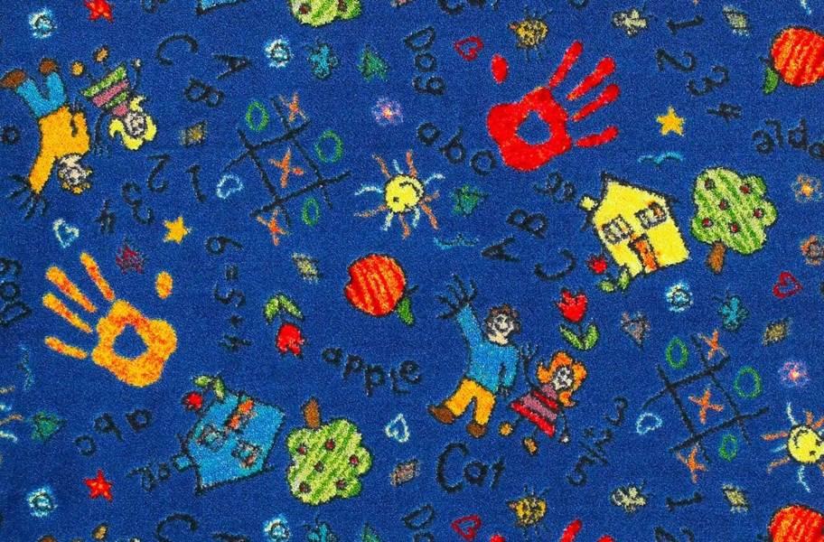 Joy Carpets Scribbles Carpet - Blue
