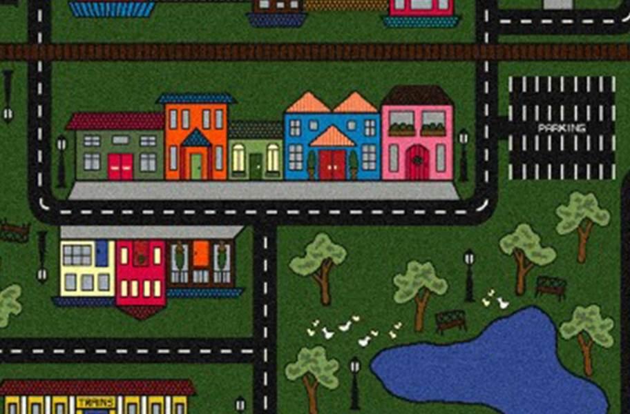Joy Carpets Tiny Town Carpet - Green