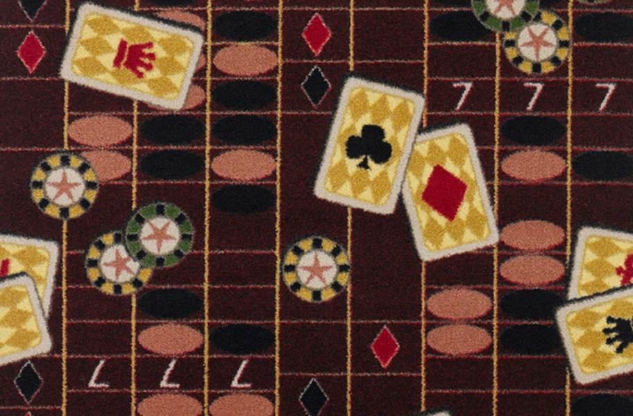 Joy Carpets Feeling Lucky Carpet - Burgundy