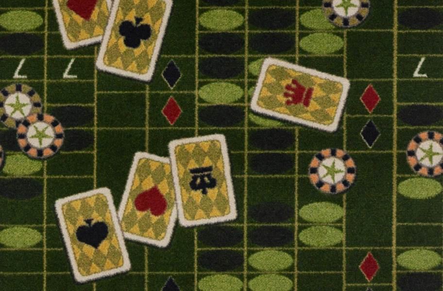 Joy Carpets Feeling Lucky Carpet - Green