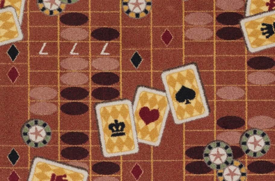 Joy Carpets Feeling Lucky Carpet - Rust