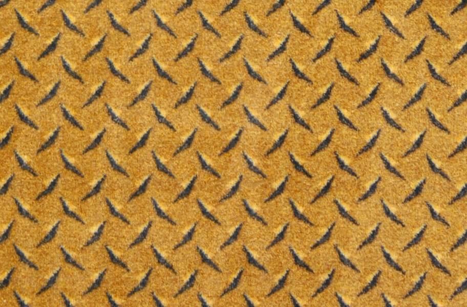 Joy Carpets Diamond Plate Carpet - Gold