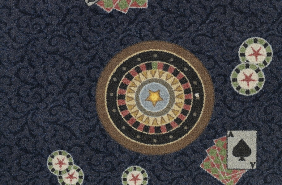 Joy Carpets Inside Bet Carpet - Navy