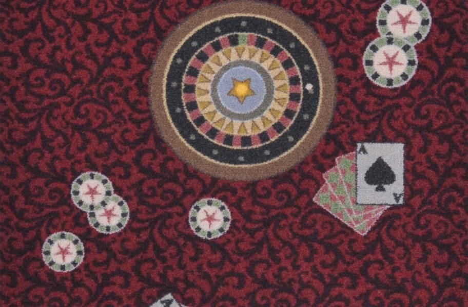 Joy Carpets Inside Bet Carpet - Burgundy
